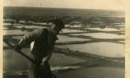 Celestinito el Salinero- Celestino Ramirez Díaz- en Las Salinas de El Confital, sobre 1940- colecc. Asunción Santana Ramírez.