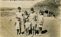 La familia de Celestinito el Salinero en Las Salinas de El Confital, sobre 1940- colecc. Asunción Santana Ramírez.