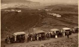 Foto para la historia desde las actuales Las Torres , al fondo Las Canteras y su bahía. Sobre 1935.