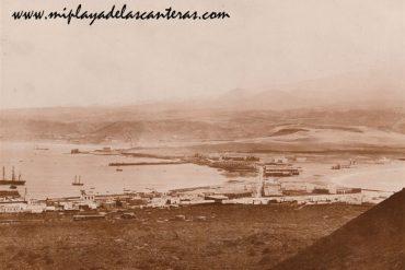 Vistas antiguas de la playa de Las Canteras. Principios del siglo XX.