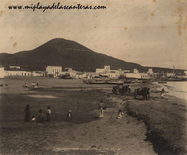 Vistas antiguas de la playa de Las Canteras. Siglo XIX