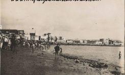 Vistas antiguas de la playa de Las Canteras. Cuarta década del siglo XX