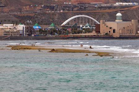 La Barra Grande nos protege de las olas.