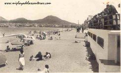 La playa de Las Canteras vista desde el antiguo balneario