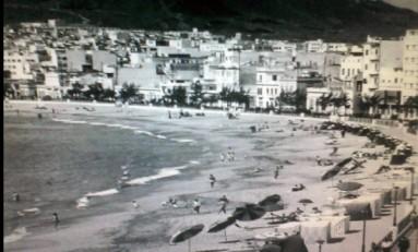 La playa de Las Canteras-Playa Grande- sobre 1970.