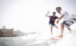 Hoy miércoles se celebró el 1ª encuentro entre surfistas del Barca y del Madrid, ganó en Barcelona ¡¡ ( Foto: surfcamplaspalmas.com)
