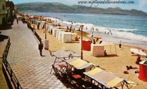 La playa de Las Canteras y su paseo sobre 1960