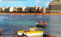 Vista de la playa de Las Canteras desde La Barra Grande, sobre 1980.