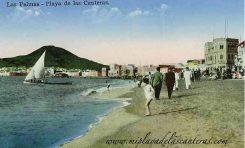Estampa de la playa de Las Canteras, sobre 1930.