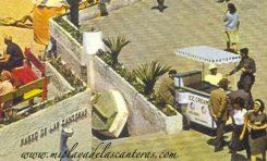 Detalle del desaparecido balneario del Reina Isabel, sobre 1970.