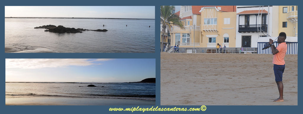 Thievy, delantero de nuestra UD Las Palmas alucinó este lunes con la playa de Las Canteras.