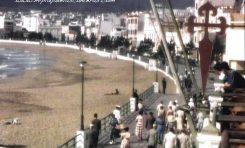 Vista del paseo de Las Canteras desde el balcón de la antigua Casa Galicia. 1953.