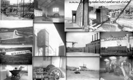 Collage de fotos de la desaparecida fabrica de La Cicer.