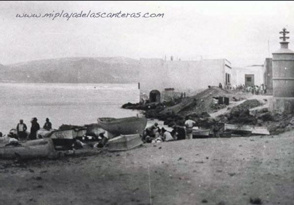 La Puntilla a principios del siglo pasado.