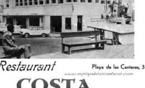 Publicidad del Restaurante Costa Bella, sobre 1970