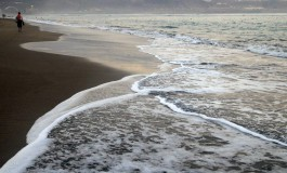 La orilla protegida.
