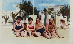 María Gartner, el niño Juan Arroyo, Gabriele Hofherr, su padre Antonio Gartner, Oswaldo. 1965- Coleec. Familia Gartner.