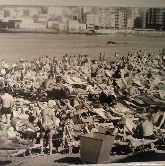Boom turístico.  Sobre 1975. Foto: Agencia EFE.