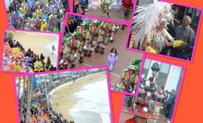 El color del Carnaval alegró Las Canteras.