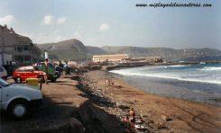 La playa de Guanarteme. Sobre 1990. Foto de José Torres