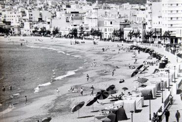 La playa de Las Canteras en 1971-2.