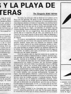 """Viejos artículos de prensa """"Las aves y la playa de Las Canteras"""" por Gorgonio Díaz"""