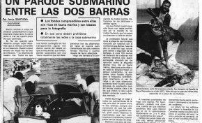 Viejos artículos de prensa. Un parque submarino entre las dos Barras