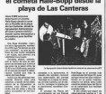 Viejos artículos de prensa ( 1997)- Contemplación del cometa Hale-Bopp desde la playa de Las Canteras