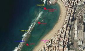 Lo que necesitas saber del oleaje y de las corrientes en Las Canteras: la Playa Grande
