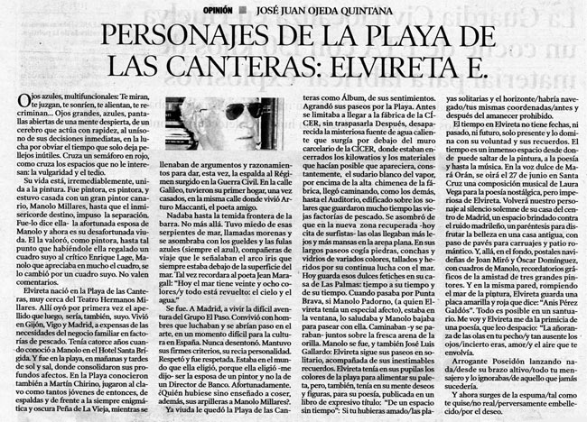 Personajes de la playa de Las Canteras: Elvireta E. por José Juan Ojeda Quintana