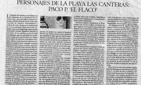 """Personajes de la playa de Las Canteras: Paco P. """"El Flaco"""" por José Juan Ojeda Quintana"""