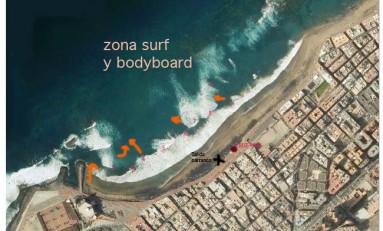 Lo que necesitas saber del oleaje y de las corrientes en Las Canteras: entre Punta Brava y Los Muellitos