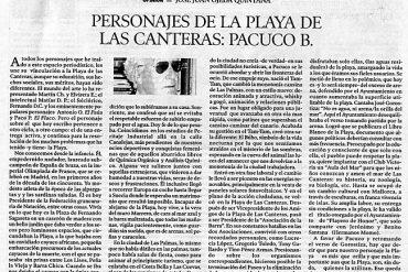 Personajes de la playa de Las Canteras: Pacuco B. por José Juan Ojeda Quintana