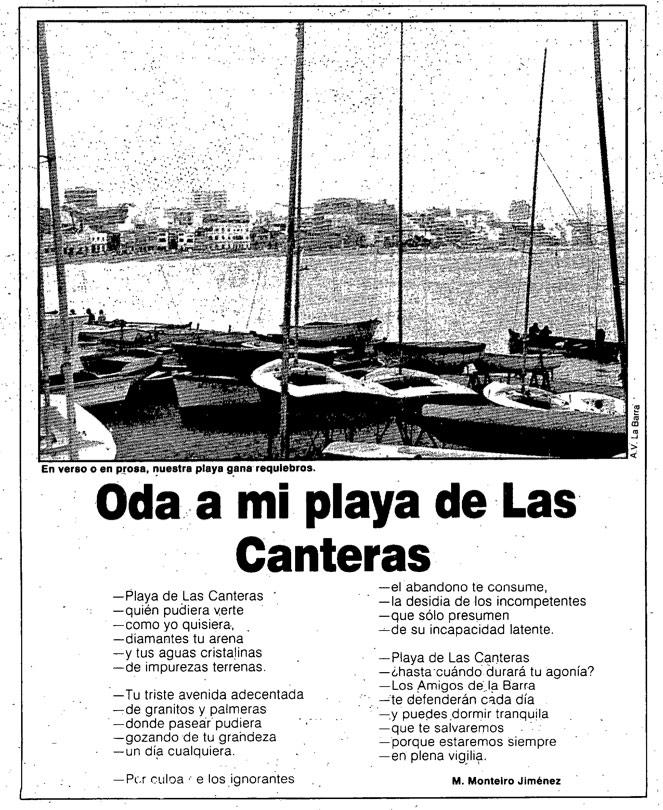 «Oda a mi playa de Las Canteras»