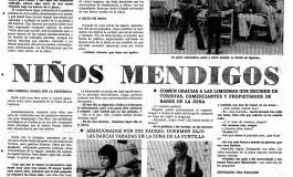 """La playa de Las Canteras en la hemeroteca: """"Niños mendigos en Las Canteras"""""""