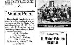 Water-Polo en la playa de Las Canteras (Hemeroteca)