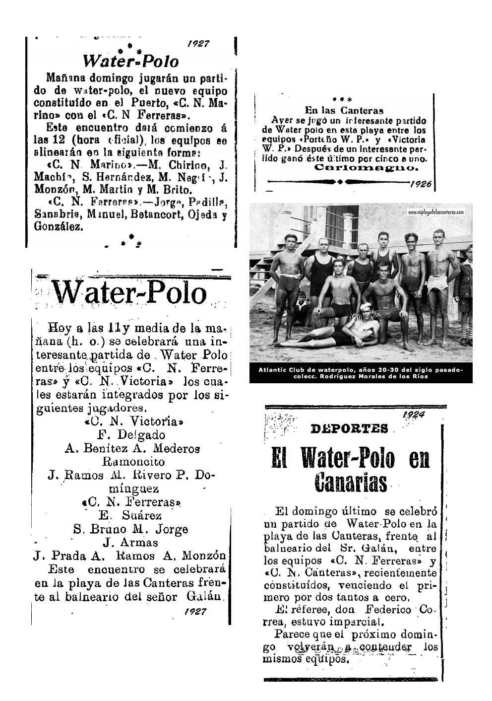 Water-Polo en la playa de Las Canteras