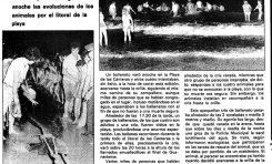 Noticias históricas. Ballenas varadas en Las Canteras