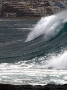 Fotografías. Las olas bellas de El Confital