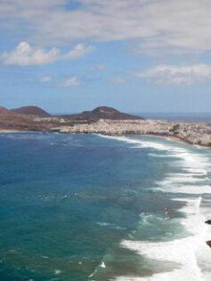 La playa de Las Canteras a vista de gaviota