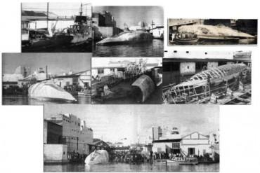 Moby Dick en construcción. 1955
