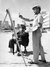"""Rudolf Ackermann (1927-1997) """"El artista aventurero que se enamoró de la playa de Las Canteras""""."""