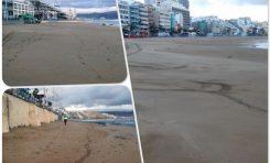 Como camina la arena en la playa de Las Canteras. Una explicación fotográfica