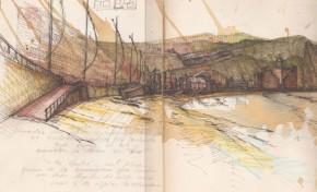 Los dibujos de la playa de Las Canteras de Rafael Moreno-Tapia