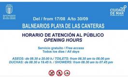 El Ayuntamiento amplia los horarios de los balnearios de Las Canteras a la demanda de verano.