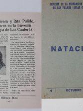 Boletín de Federación de Natación 1960. Travesía de Las Canteras