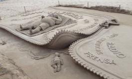 Una escultura de arena que revuelve las conciencias