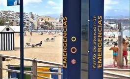 UxGC denuncia que el poste de emergencias de Las Canteras incumple con el Gobierno de Canarias al no dar prioridad al teléfono 112