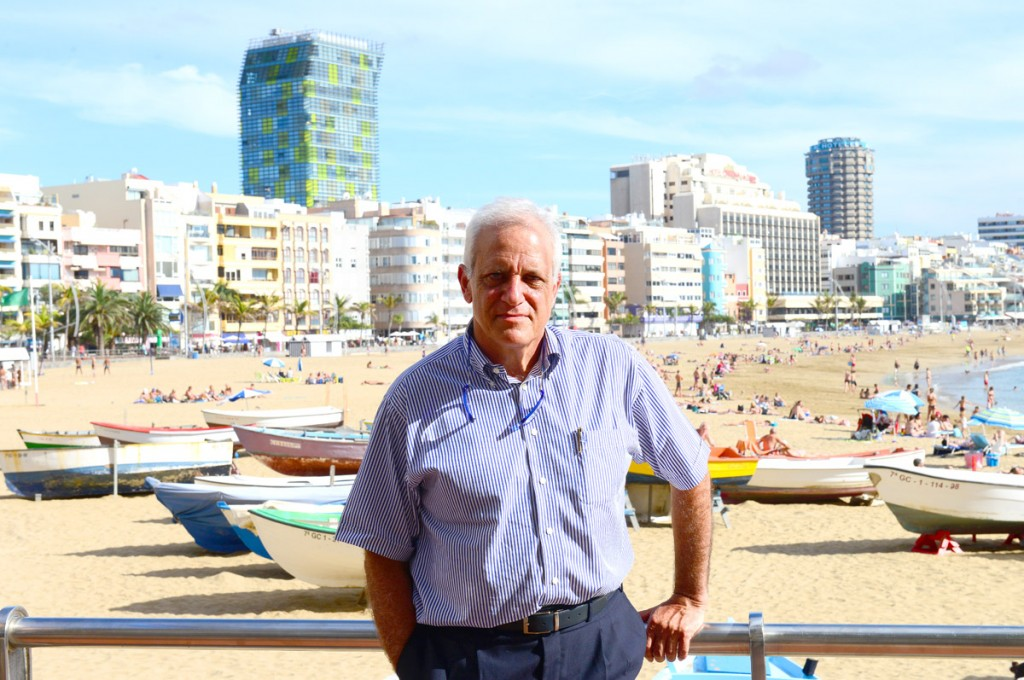 Juan Pérez hijo, promotor del homenaje a su padre.