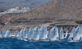 Un grancanario, un tinerfeño y un conejero: podio del regional de Optimist Día de Canarias